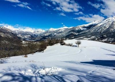 chalet luxe prestige et famille à Risoul dans les Hautes Alpes - vue sur la vallée